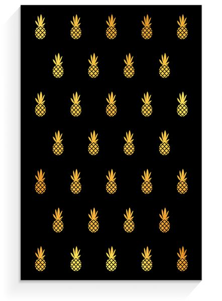 Notepad »Pineapple black«