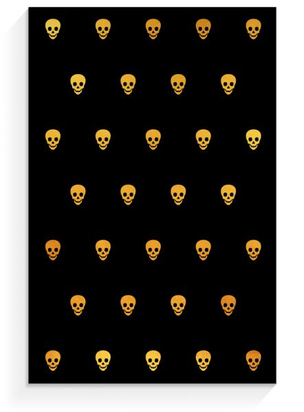 Notepad »Skull black«